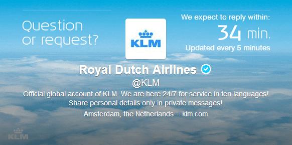 KLM KPI - Reactietijd Twitter kanaal