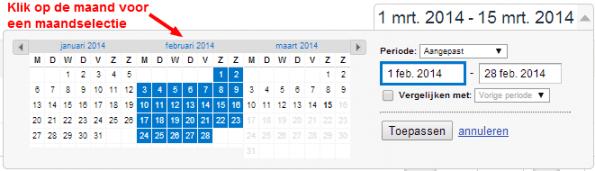 kalender google analytics
