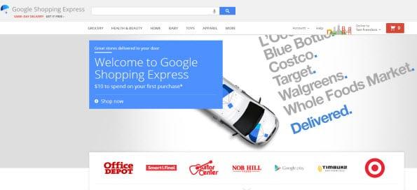 Google Shopping Express experimenteert op kleine schaal in onder andere San Francisco.