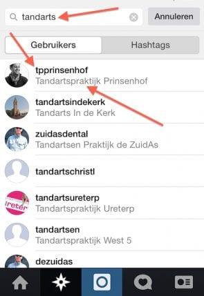 lokaal bedrijf op instagram