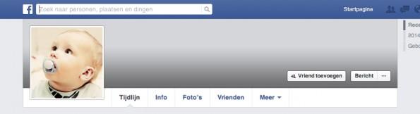 Baby op Facebook