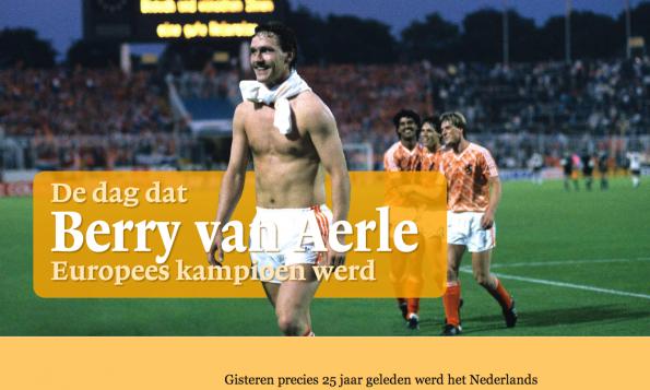 De dag dat Berry van Aerle Europees Kampioen werd van De Volkskrant.