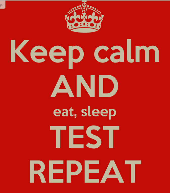eat sleep test repeat