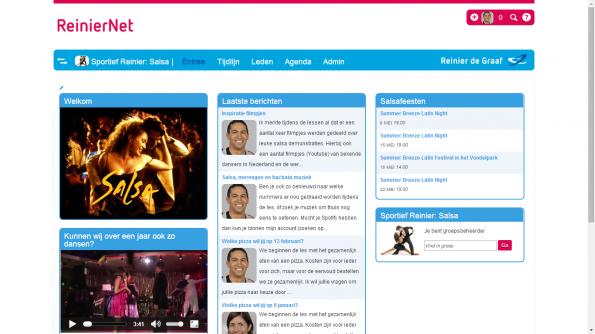 Een screenshot van ReinierNet
