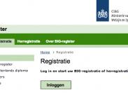 Screenshot BIG-register