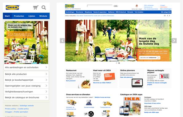 IKEA.nl voor mobiel en desktop