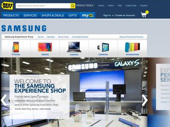 Samsung online shop-in-shop