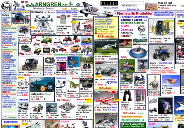 homepage van www.arngren.net