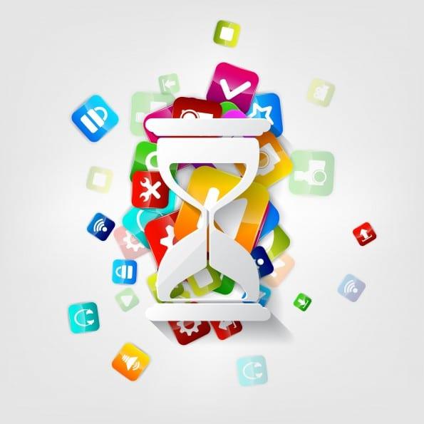 Application button.Social media.Cloud computing.