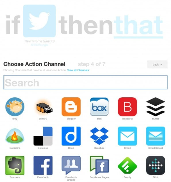 Twitter Favorites IFTTT