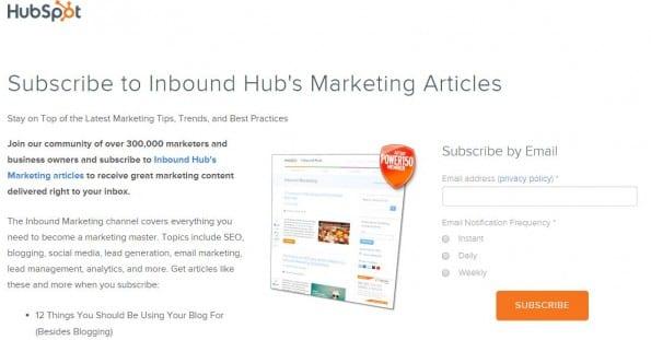 Subscribe - Hubspot