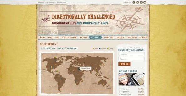 Blog van Directionally Challenged, ontwerp van 99designs' community