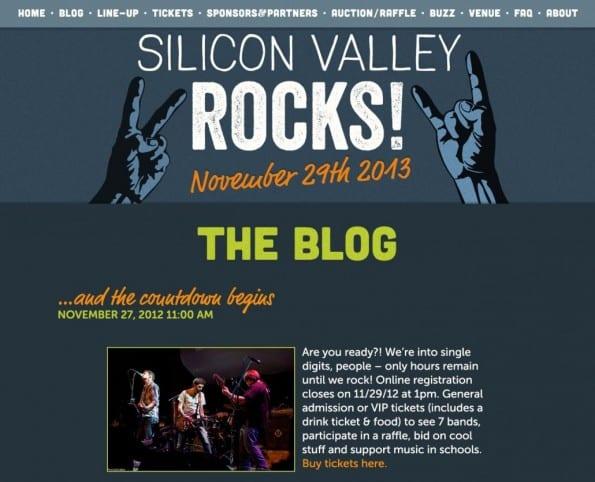Blog design van Silicon Valley Rocks