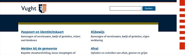 toptaken website gemeente Vught