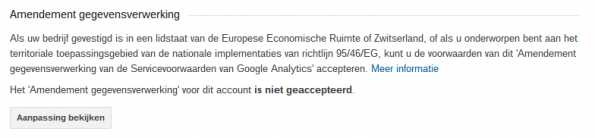 bewerkersovereenkomst google analytics