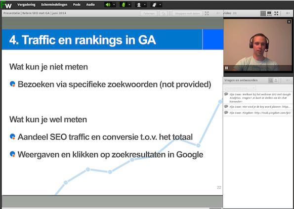 Webinar betere SEO met Google Analytics