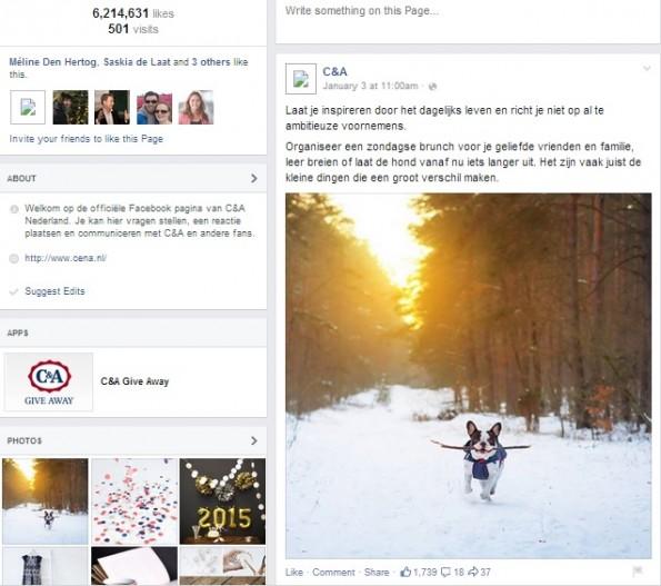 C&A facebook engagement