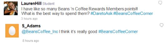 Voorbeeld van persoonlijke (boven) en anonieme tweet (onder)