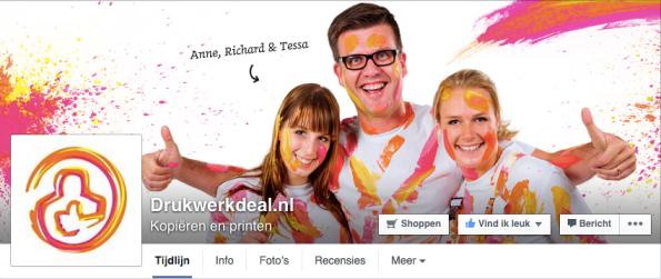 Facebook cover Drukwerkdeal