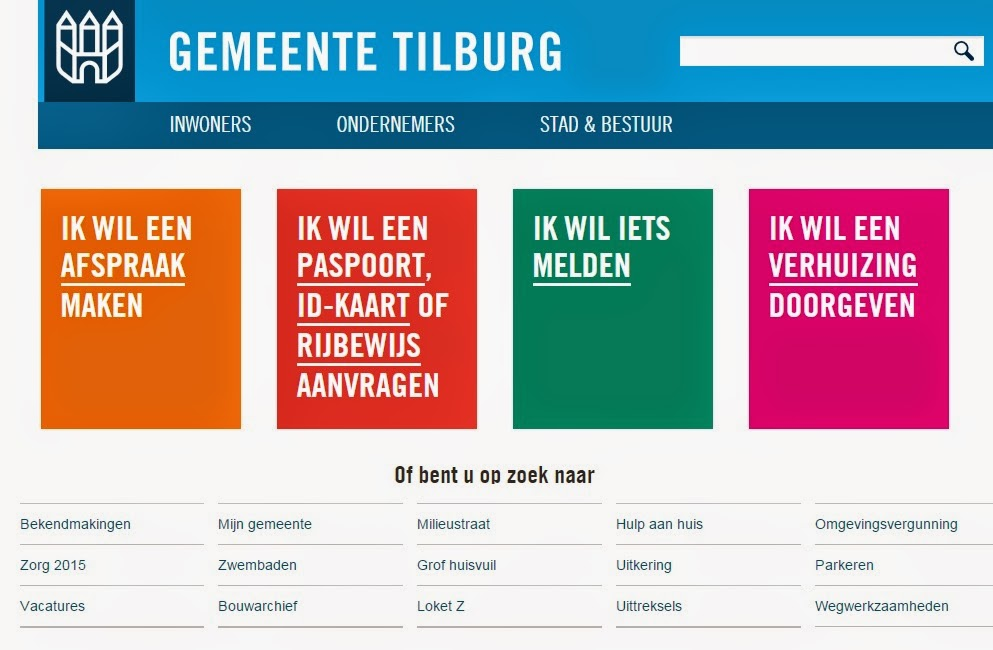 Gemeente Tilburg - Website - Toptaken
