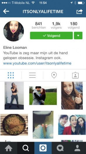 Instagram account It's only a lifetime