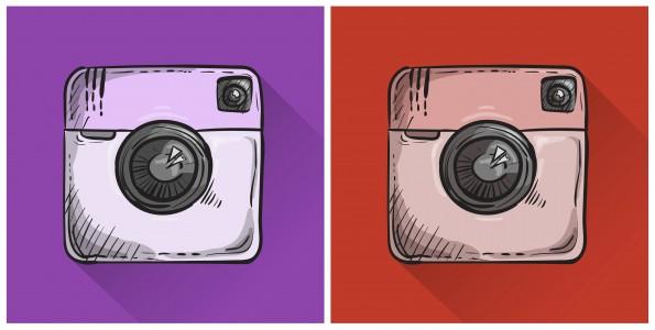 instagram paars rood