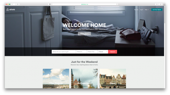 AirBnB screenshot - Visual Insanity in Corporate Identity