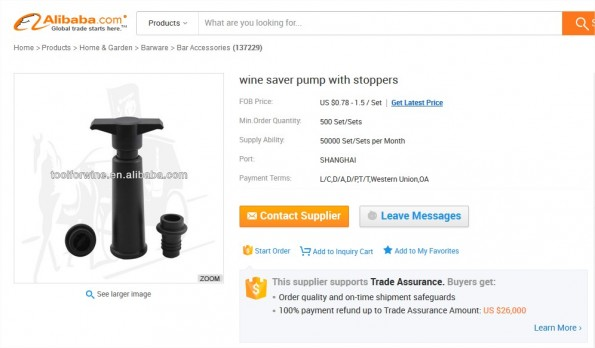Wine Saver Pump With Stoppers - Buy Wine Saver Pump,Vaccuum Pump Wine,Plastic Wine Pump Product on Alibaba.com - Mozilla Firefox