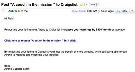 Airbnb Craigslist Growth Hack