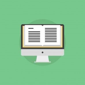 Online book flat icon illustration