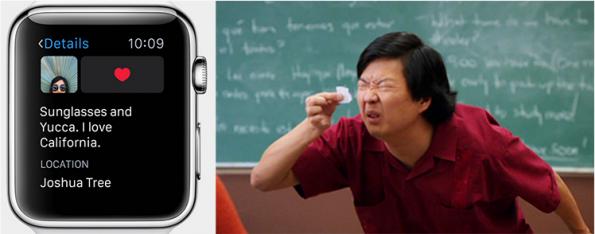 Instagram op de Apple Watch grap