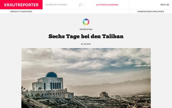 Krautreporter.de, een crowdfunded journalistieke site als navolger van De Correspondent.