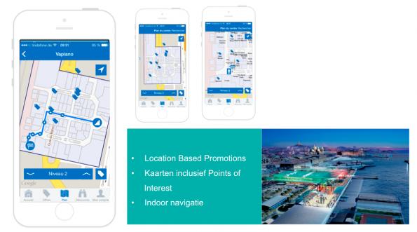 Indoor navigatie en relevante (location based) promoties