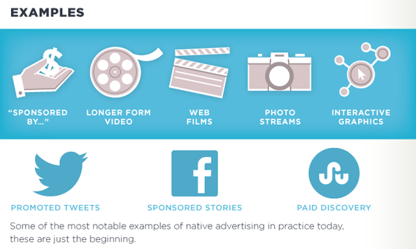 Verschillende categorieën native advertising (klik voor complete infographic).
