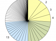 Taartdiagram: toptaken gemeente Westland website 2014