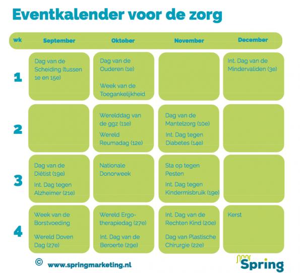 Eventkalender voor de zorg