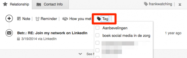 linkedin-connecties-tags