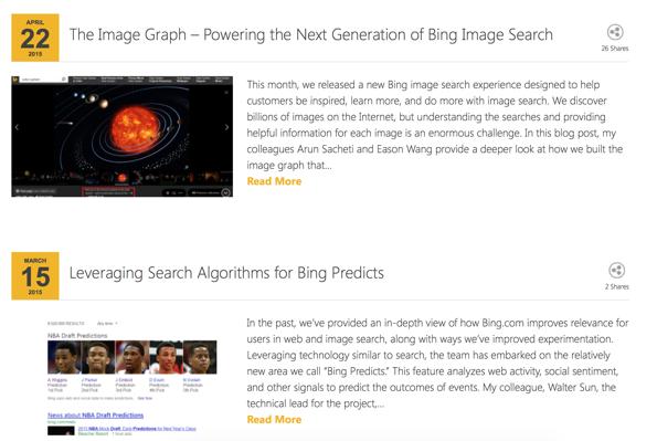 Bing blogs