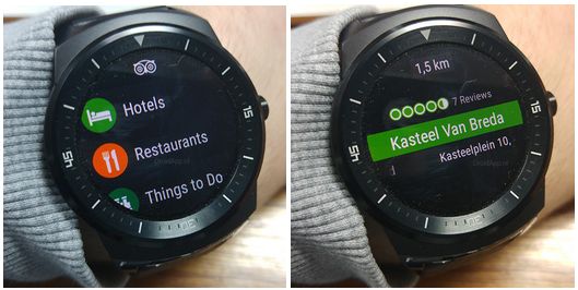 Tripadvisor on smartwatch