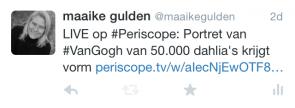 pre-tweet Periscope uitzending