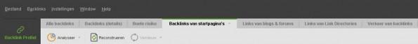 Backlinks-startpagina