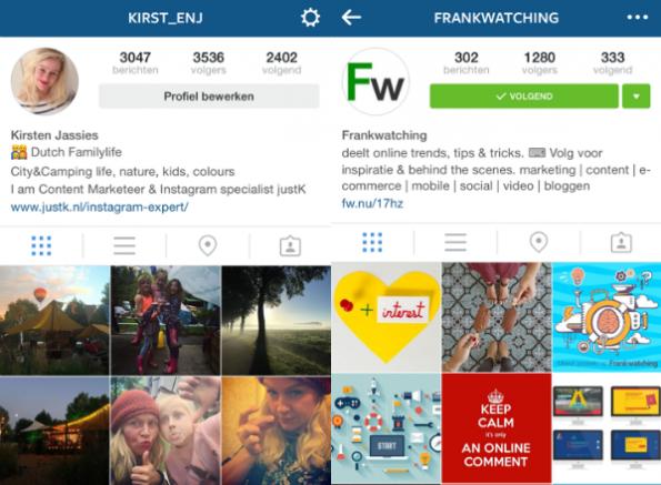 Profielteksten Instagram