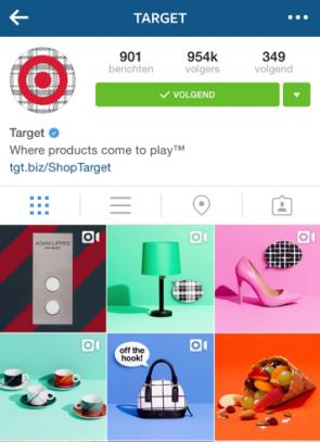 Target op Instagram