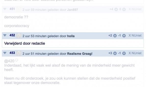 Op nujij.nl heeft de redactie haar handen vol aan het modereren van de comments.