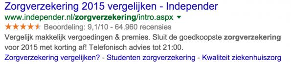 independer-zoekresultaten-google