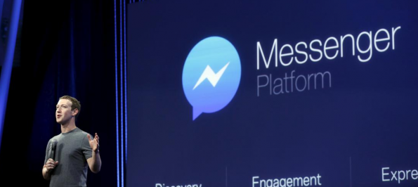 Zuckerberg bij F8 Messenger conference