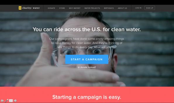 Charity: water: start je eigen digitale campagne