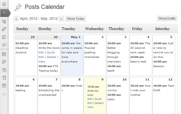 editor calendar