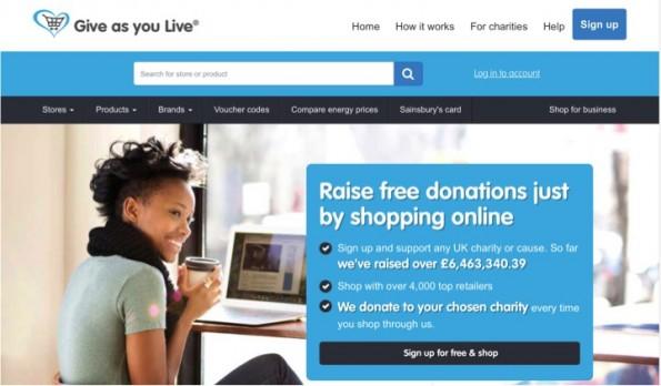 Give as you Live: doneren tijdens het onlie shoppen