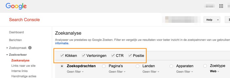 seo search console zoekanalyse ctr